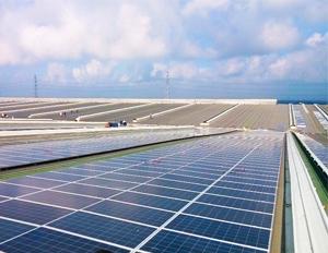 江苏吴江敏华6.6MW工厂屋顶光伏发电项目